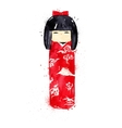 Chinese symbols doll vector image vector image