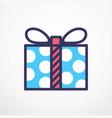christmas gift box flat line vector image