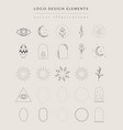 collection hand drawn logo element frames vector image vector image