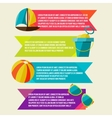Collection of banners with summer design elements vector image vector image