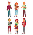 college students university studying student vector image vector image