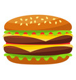 colorful burger hamburger cheeseburger fast food vector image vector image