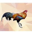 Colorful cock polygon walking on polygon backgroun vector image vector image