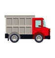 colorful silhouette with dump truck vector image vector image