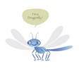 cute dragonfly isolated on white background vector image vector image