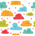 Cute hand drawn seamless pattern with clouds drops vector image vector image
