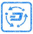 Dash turnover framed stamp vector image