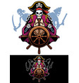 dead pirates mascot vector image vector image