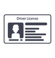 driver id card license with photo identification vector image vector image