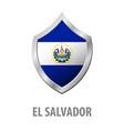 el salvador flag on metal shiny shield vector image