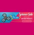 fidget spinner banner vector image vector image