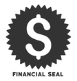 Financial Seal Icon With Caption vector image vector image