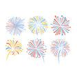 firework pattern display celebration vector image vector image