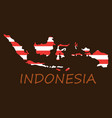 Flag map of indonesia