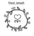 flower wreath graphic design vector image vector image