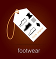 footwear label vector image vector image