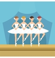 Four Ballerinas Little Swans Dance Performance vector image vector image