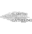 gathering word cloud concept vector image vector image