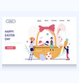 happy easter day website landing page vector image vector image