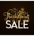 Happy Thanksgiving Sale vector image