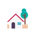home icon house cabin vector image