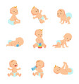 infant bacharacters newborn in vector image vector image