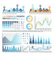infographic with timeline and numbers information vector image vector image