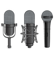 isolated image of microphones vector image vector image