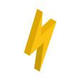 isometric lightning bolt icon isolated on vector image