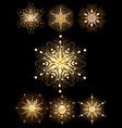 jewelry snowflakes vector image vector image