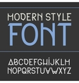label font modern style vector image vector image
