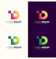 letter d pixel logo design vector image