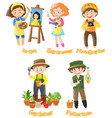 men and women doing different jobs vector image vector image