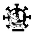 microscope bacteria laboratory science vector image