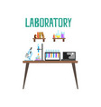 modern laboratory workplace equipment for vector image vector image