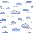 modern seamless pattern with clouds of different vector image vector image