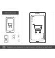 online shop line icon vector image vector image