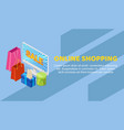 online shopping sale discount background for the vector image vector image