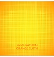 Orange cloth texture background vector image vector image