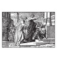 peter heals a lame beggar at the temple vintage vector image vector image