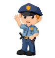 policeman cartoon vector image
