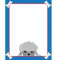 poodle frame vector image vector image