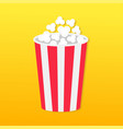 popcorn round box movie cinema icon in flat vector image vector image
