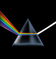 realistic detailed 3d spectrum prism vector image vector image