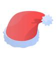santa hat icon isometric style vector image vector image