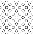 seamless abstract monochrome rounded square vector image vector image