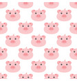 seamless cute pig pattern vector image
