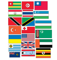 set of 20 flags countries started with T and U vector image