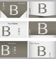 set of business cards with letter z vector image