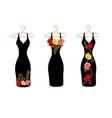 set of dresses on hangers vector image vector image